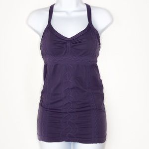 ZELLA. Purple Rouched work out tank